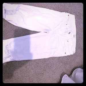 Hudson skinny white jeans distressed
